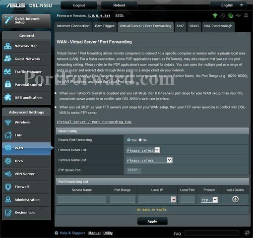 asus router dsl n55u manual