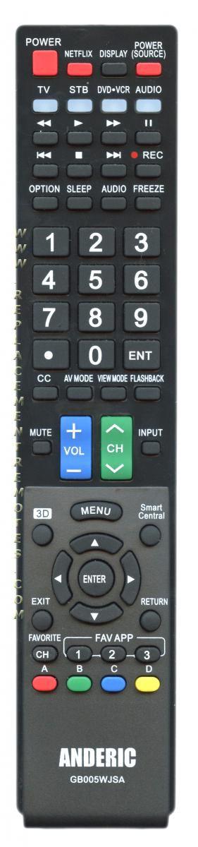 sharp tv remote control manual