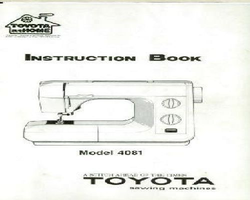 toyota 8000 sewing machine instruction manual