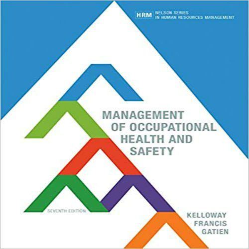 Management of occupational health and safety 7th edition pdf download