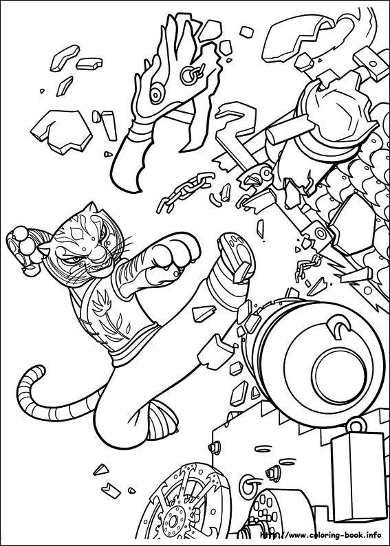 Kung fu panda coloring pages pdf