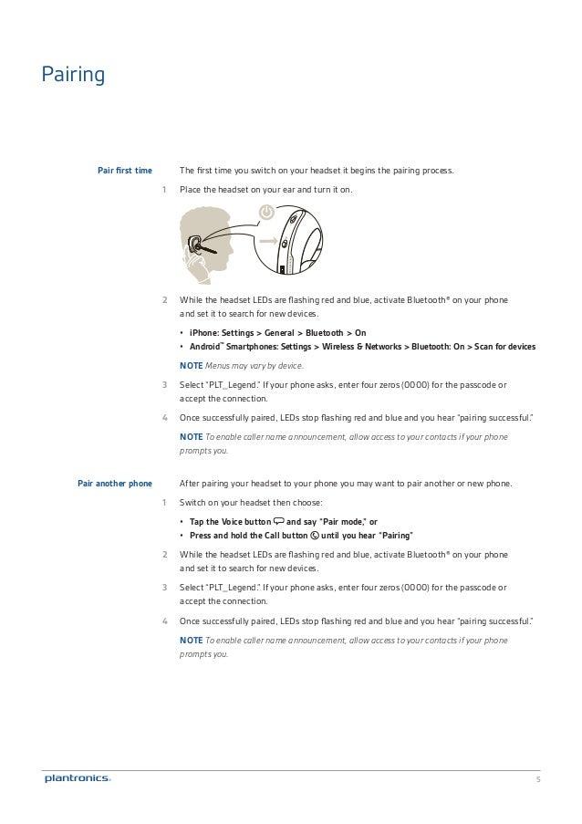 plantronics plt legend user manual