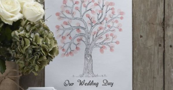 wedding fingerprint tree instructions
