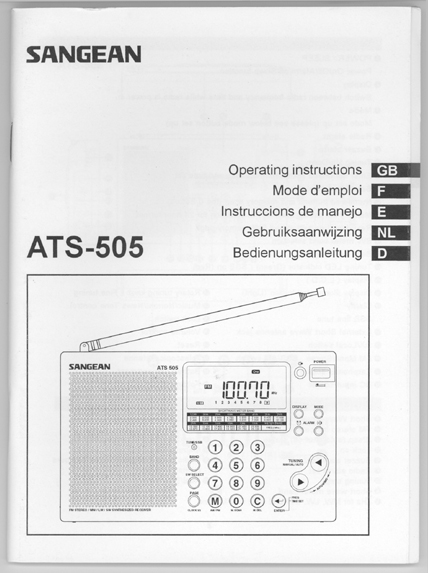 sangean ats 505 service manual