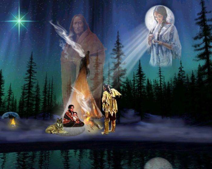 Native american indian spirit guides