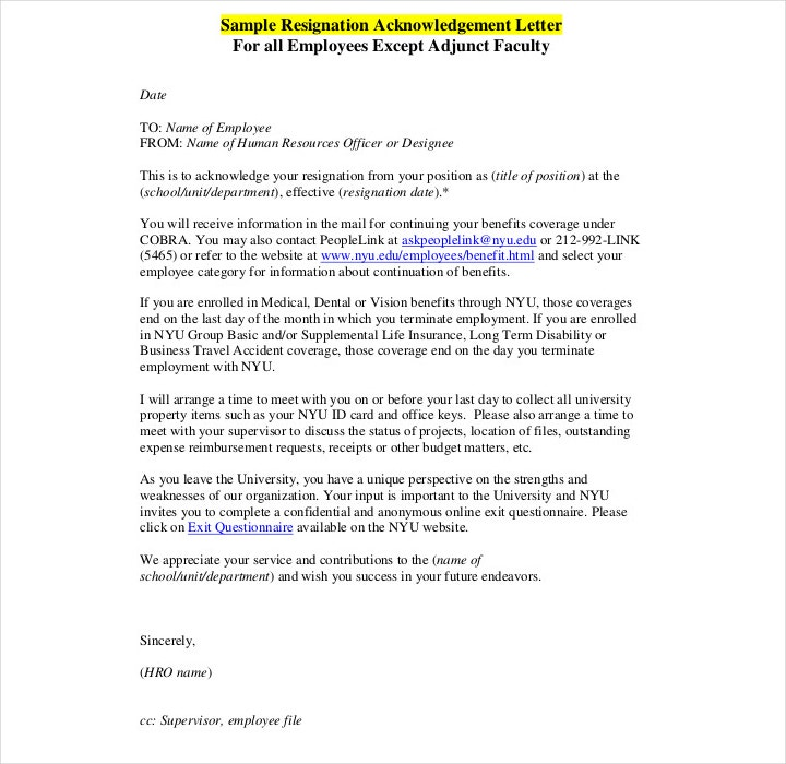 Example of unacceptable application letter