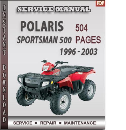 2003 polaris sportsman 500 ho service manual