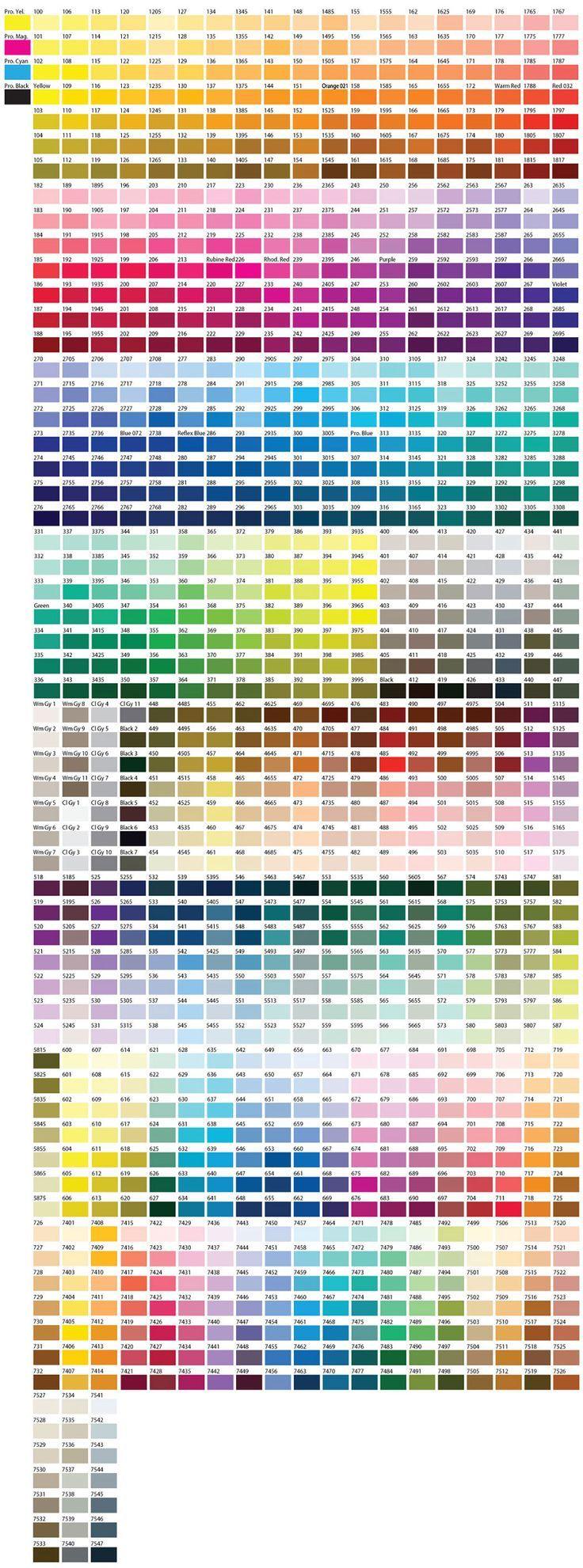 Montana gold colour chart pdf