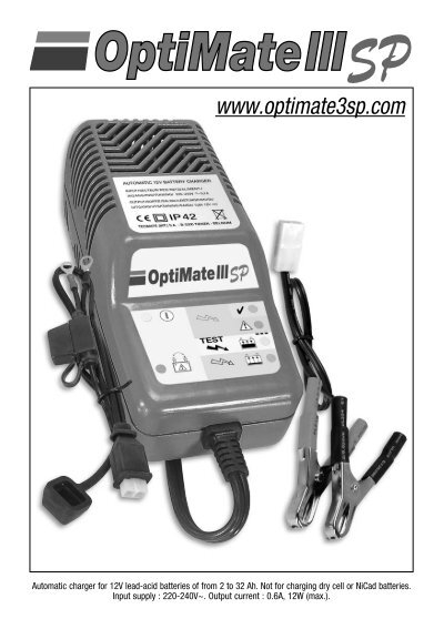 optimate 3 charger instructions