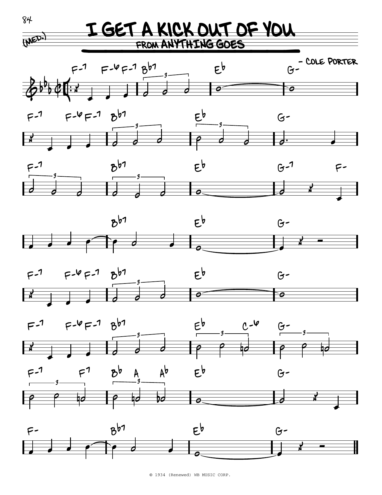 I get a kick out of you sheet music pdf