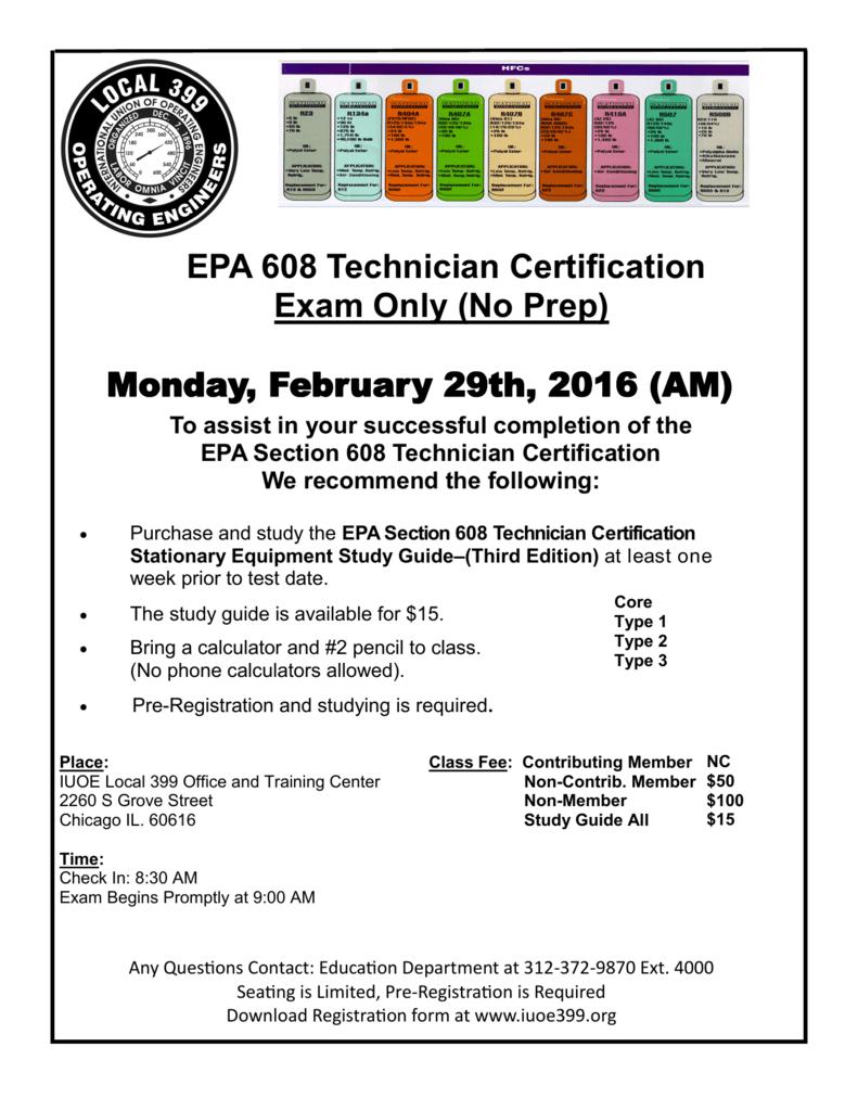 Epa type 1 study guide