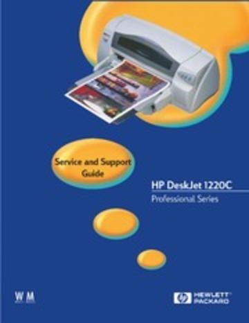 hp deskjet 1220c service manual