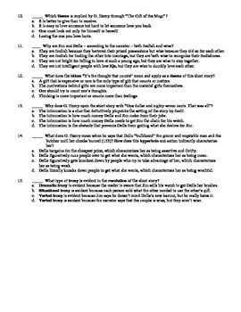 The gift of the magi worksheet pdf