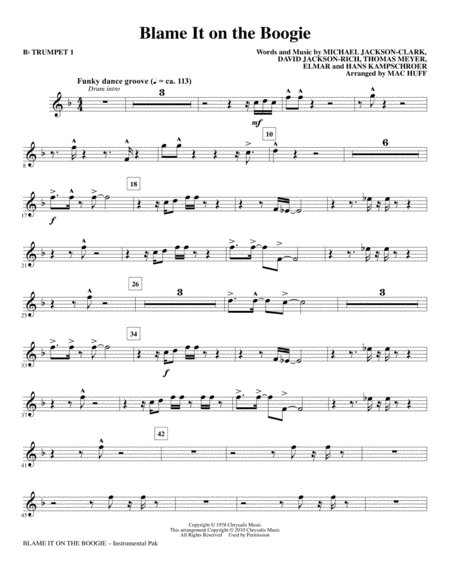 Blame it on the boogie piano sheet music pdf