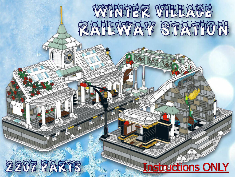 Lego winter train instructions