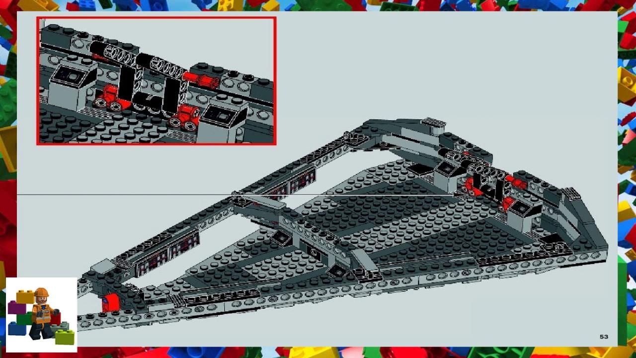 lego star wars star destroyer 75055 instructions
