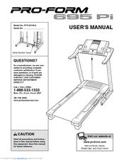 proform 495 pi treadmill manual
