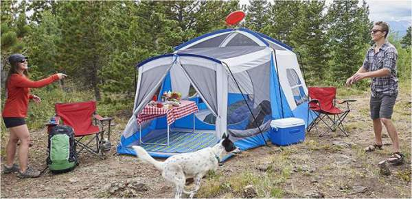 escort two room dome tent assembly instructions