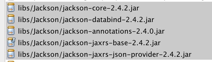 Messagebodywriter not found for media type application json jaxrs