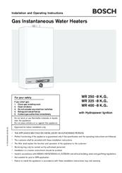 Bosch hot water service manual