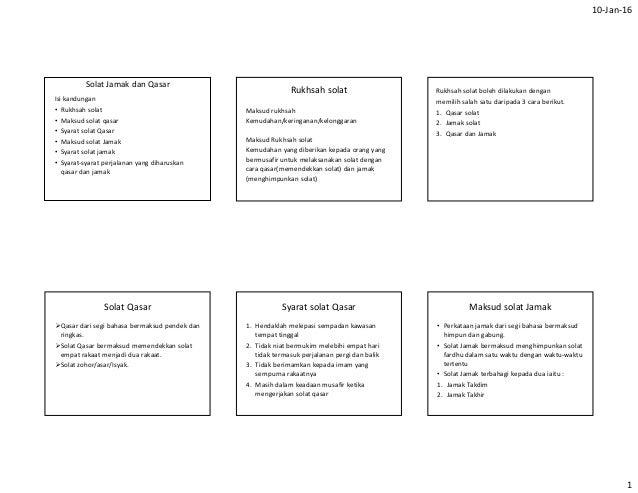 Syarat solat jamak dan qasar pdf