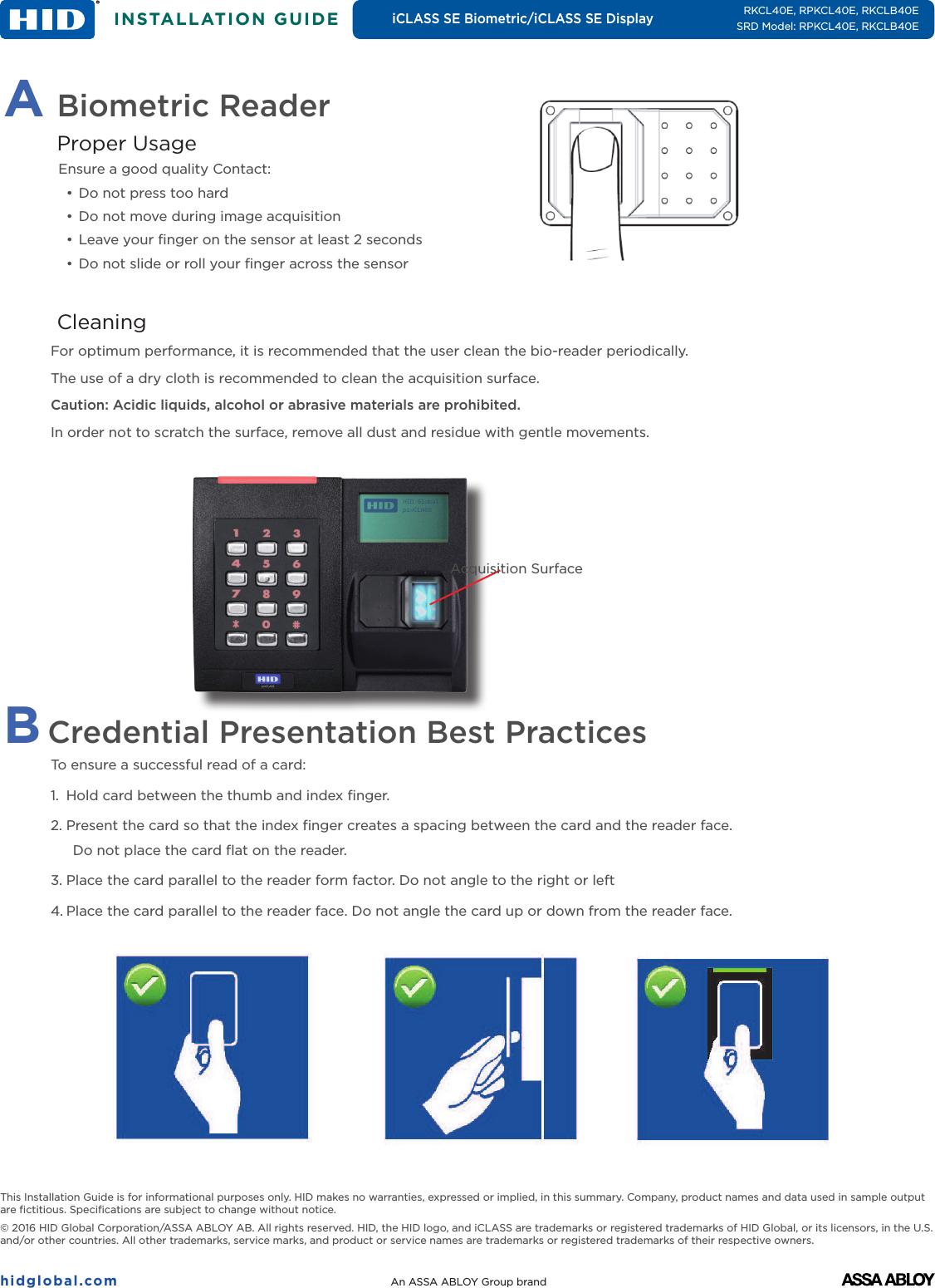 hid r40 reader installation manual