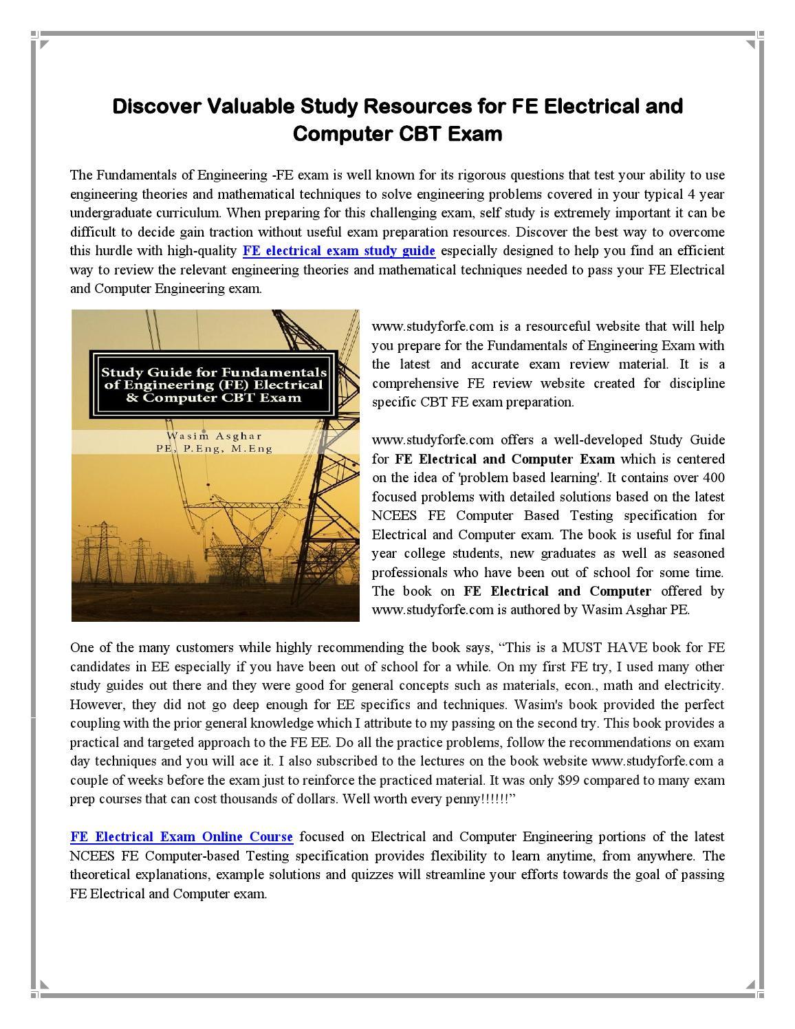 Fe exam study guide pdf