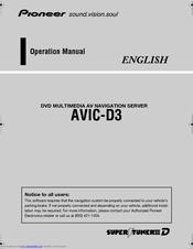 Pioneer avic d3 installation manual