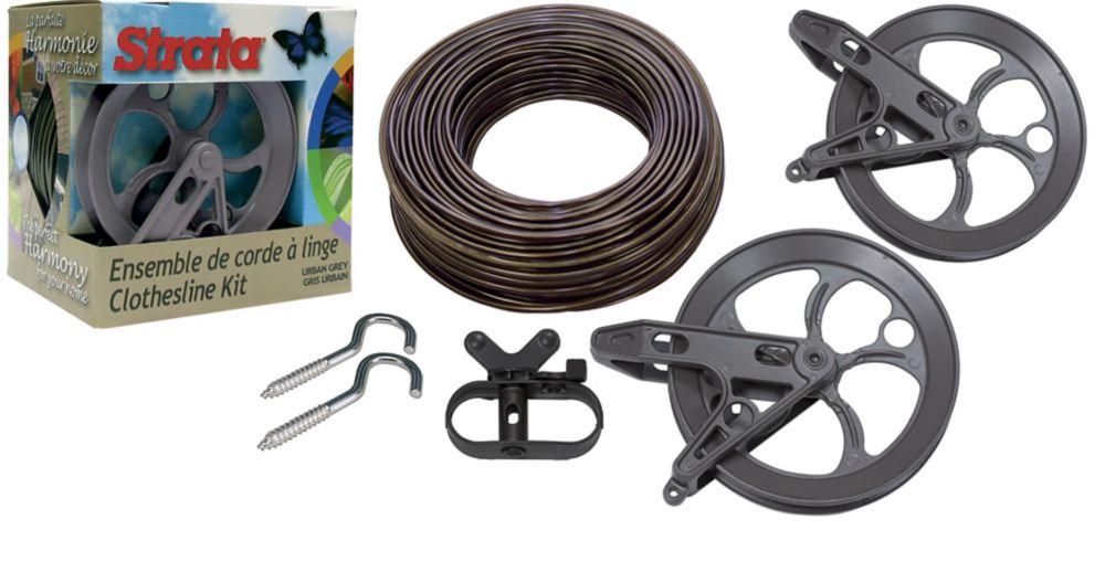 strata heavy duty clothesline kit instructions