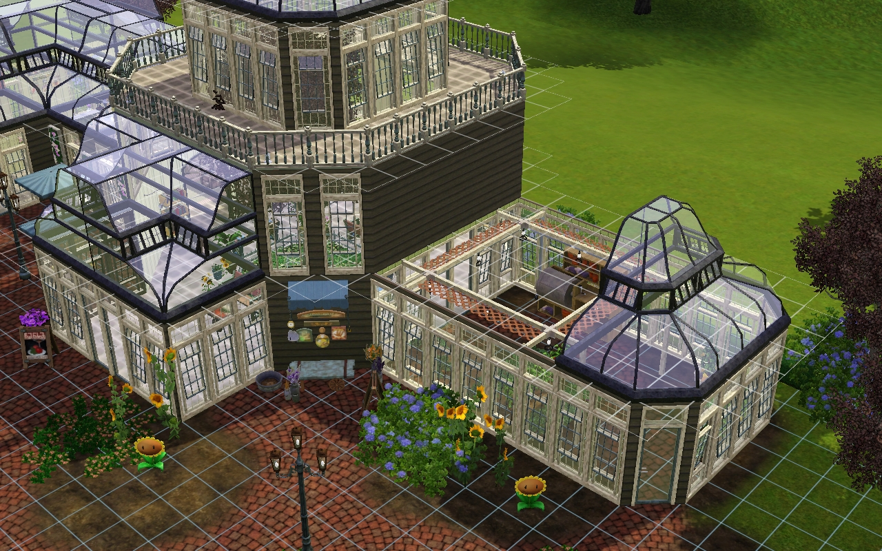 Sims 3 stones throw greenhouse how to build