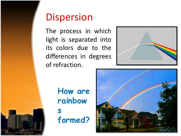 2 application of dispersion of light in nature