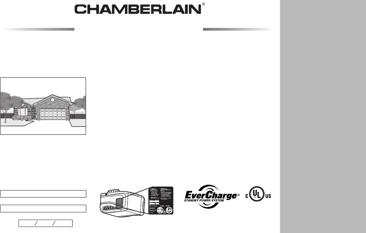 chamberlain whisper drive plus garage door opener manual