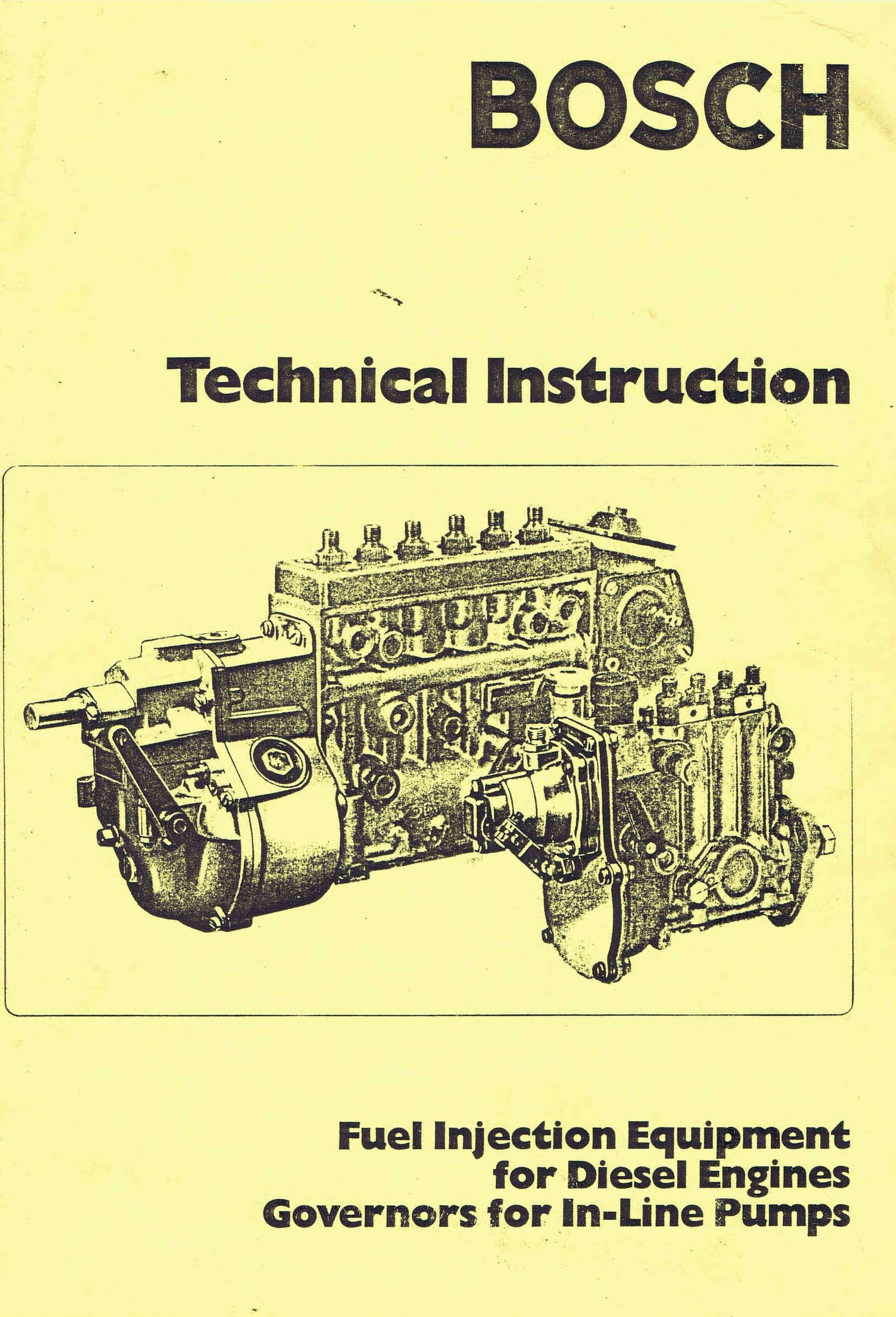 Bosch p7100 pump service manual