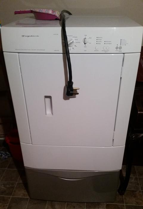 frigidaire front load dryer manual
