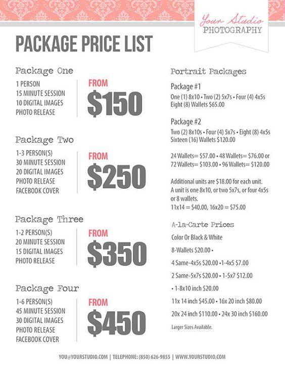 Graphic design price sheet pdf