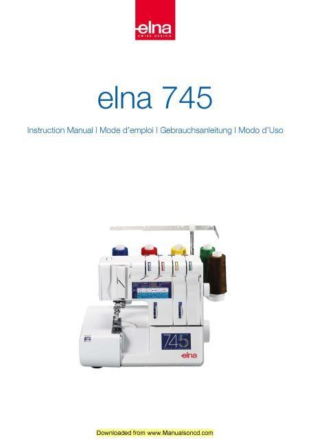 elna 1000 oiling instruction manual english