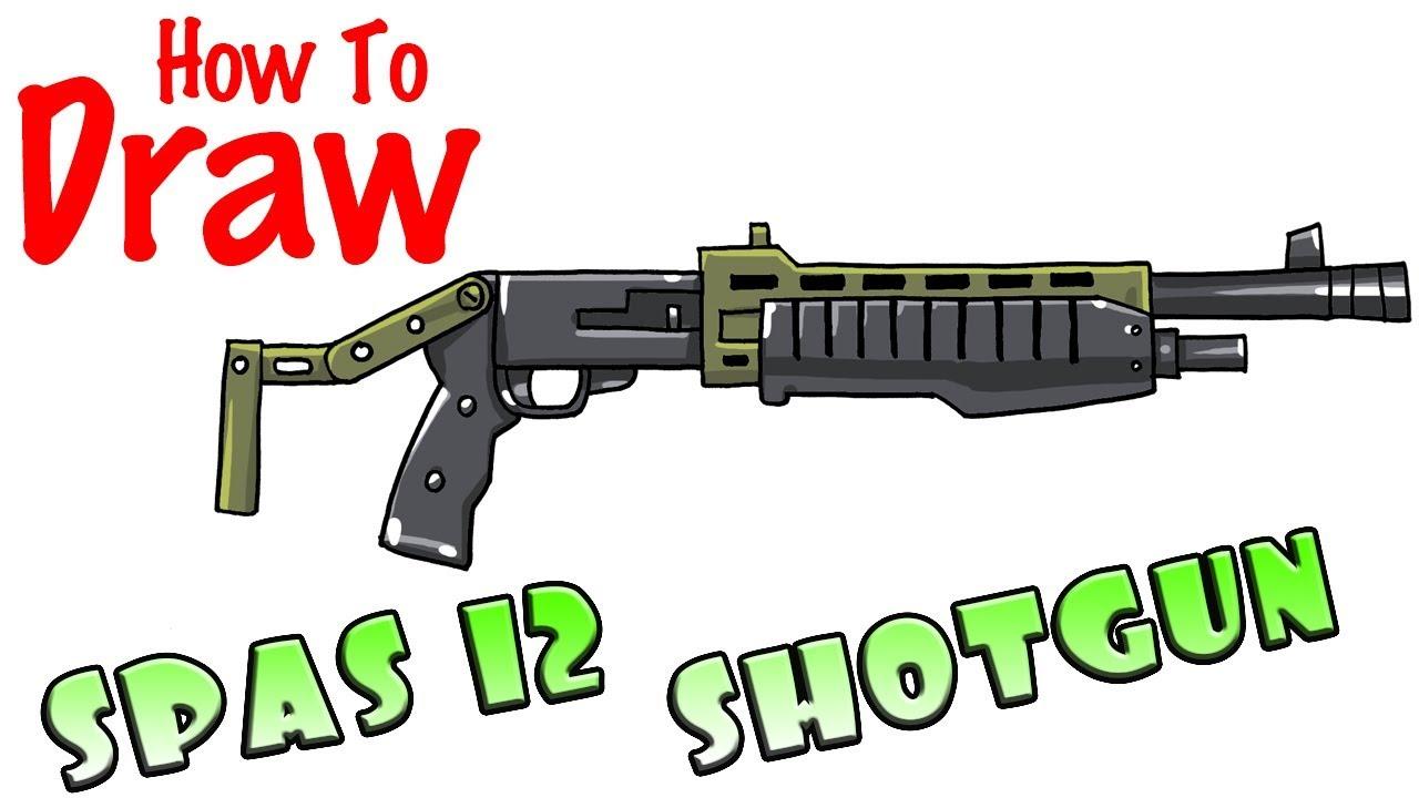 Fortnite how to draw shoot gun ammo