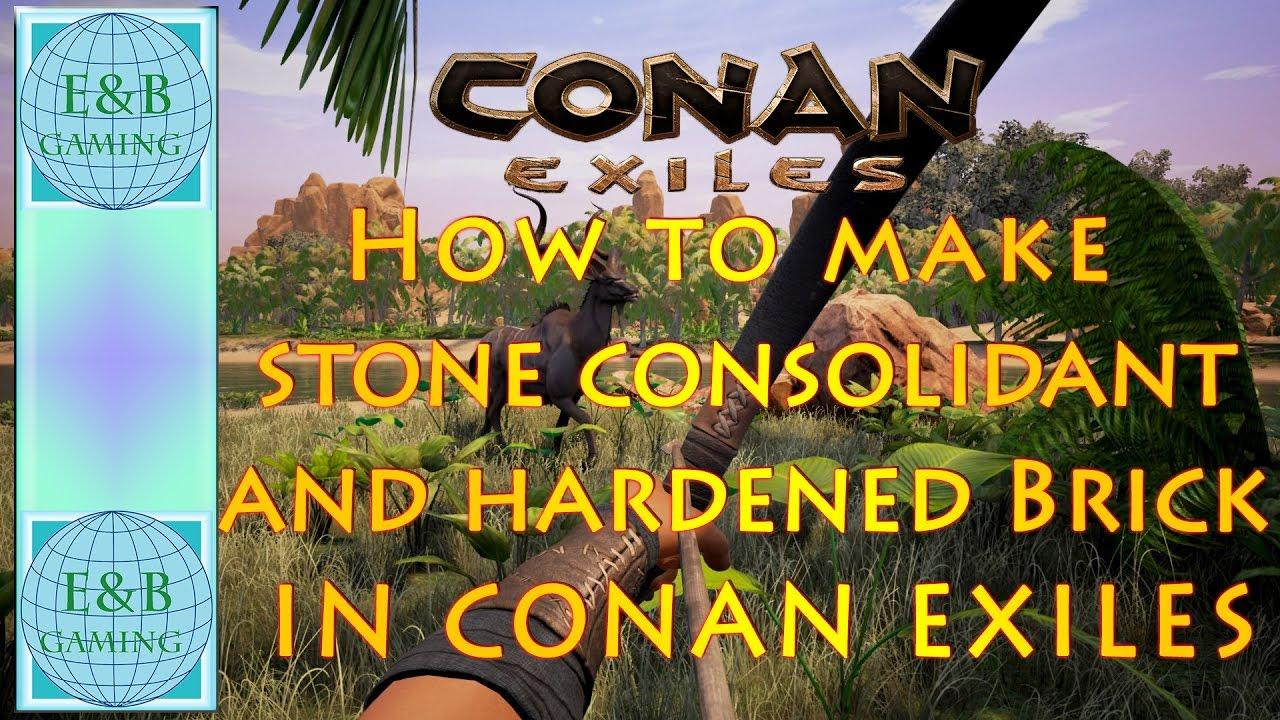 Conan exiles how to make hardened brick