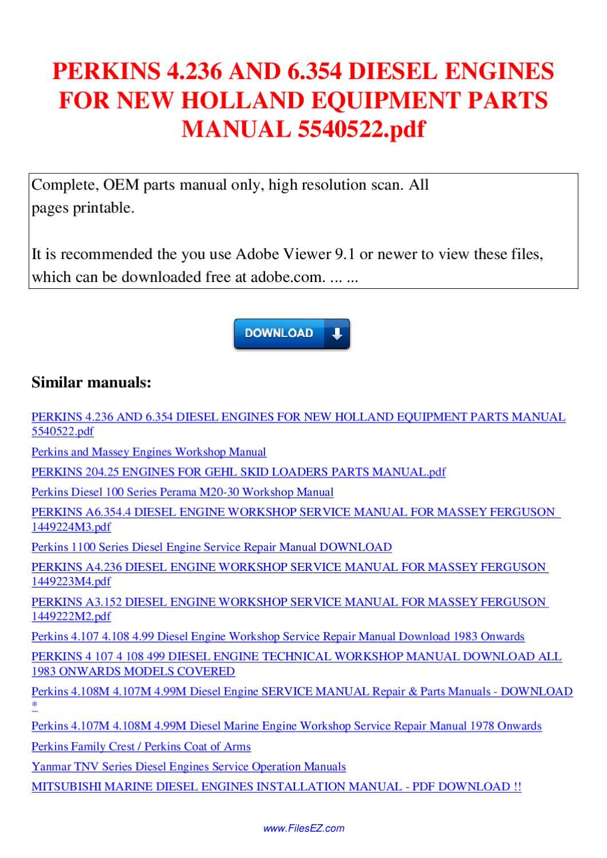 perkins 4.236 workshop manual pdf