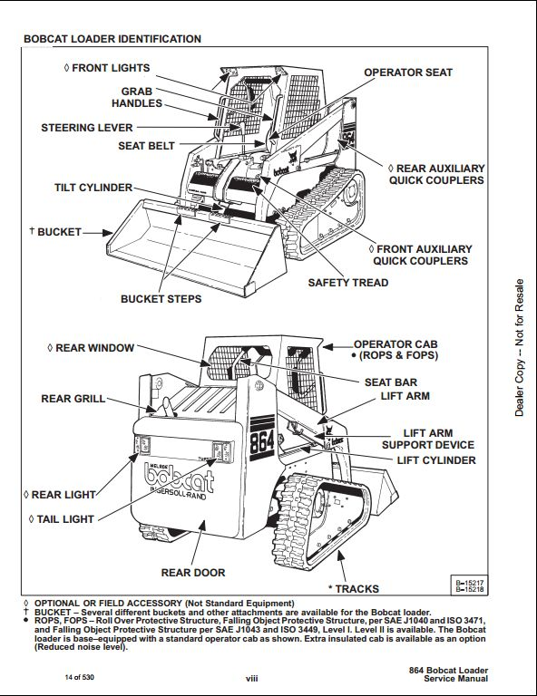 bobcat 863 service manual for sale