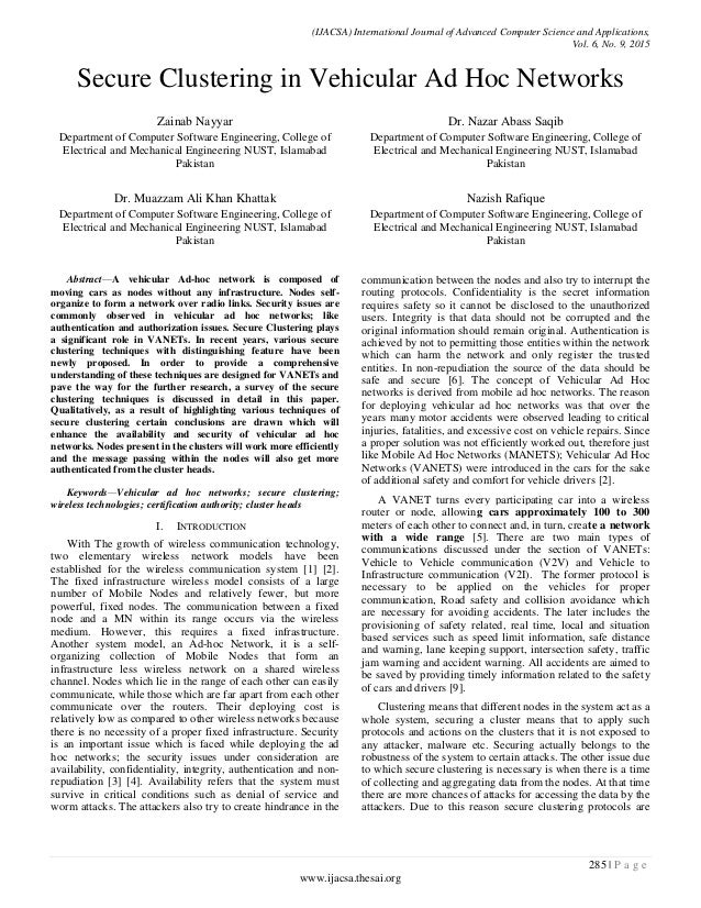 International journal of advanced computer science and applications scimago