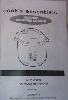 easy cook 747 instruction manual