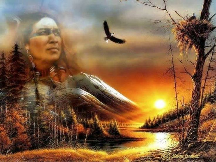 Native american indian spirit guides