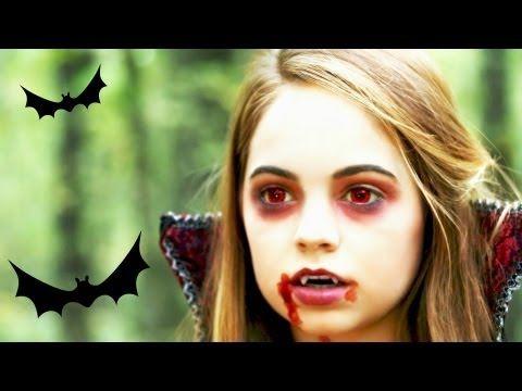 Vampire makeup tutorial for kids