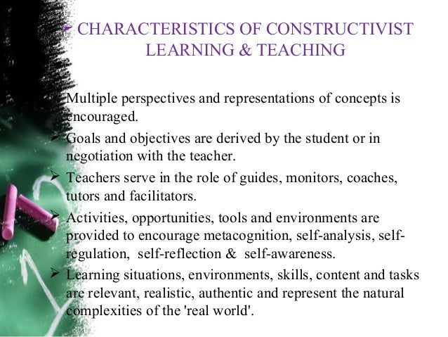 Constructivist teaching and learning pdf