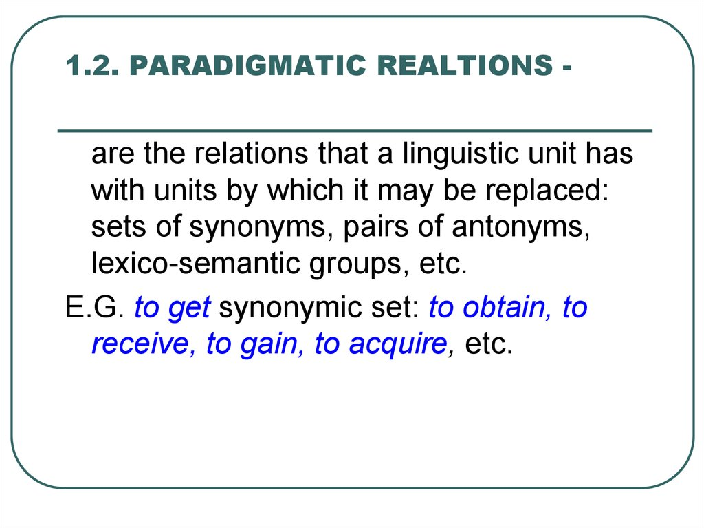 Syntagmatic and paradigmatic relations in linguistics pdf