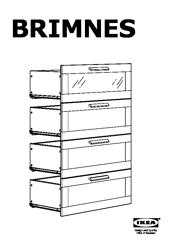 ikea brimnes 4 drawer dresser instructions