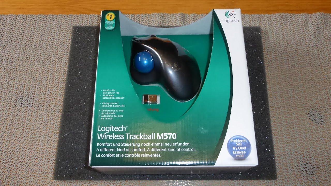 logitech wireless trackball m570 manual