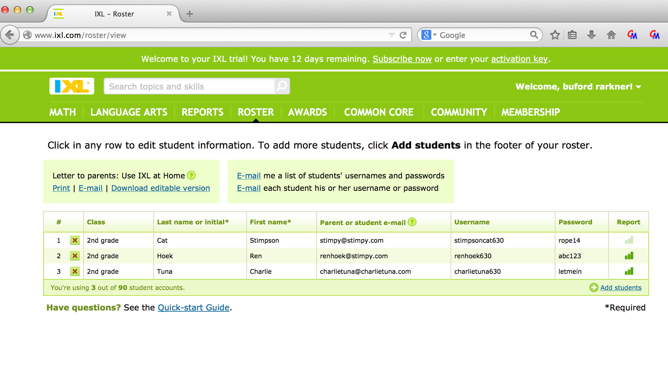 Ixl username and password pdf