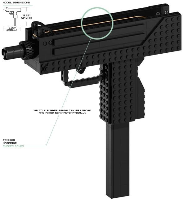 lego guns instructions to build